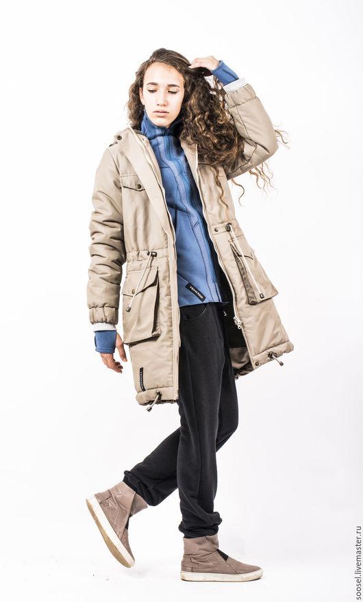 """Верхняя одежда ручной работы. Ярмарка Мастеров - ручная работа. Купить Куртка """"Стив"""". Handmade. Бежевый, тепло, холофайбер"""