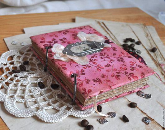 """Блокноты ручной работы. Ярмарка Мастеров - ручная работа. Купить Блокнот винтажный """"Кофе"""".. Handmade. Комбинированный, винтаж, картон, брадс"""
