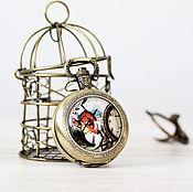 """Украшения ручной работы. Ярмарка Мастеров - ручная работа Карманные Часы-кулон """"Алиса в стране Чудес"""". Handmade."""