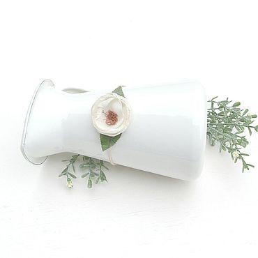 Работы для детей, ручной работы. Ярмарка Мастеров - ручная работа Повязочка для фотосессии с белым цветком. Handmade.