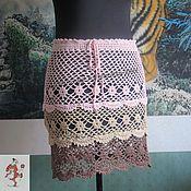 """Одежда ручной работы. Ярмарка Мастеров - ручная работа Вязаная летняя юбка """"Три в одном"""". Handmade."""