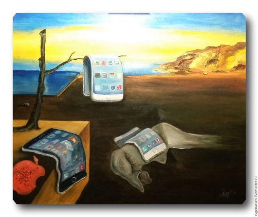 Фэнтези ручной работы. Ярмарка Мастеров - ручная работа. Купить Постоянство сознания. Handmade. Коричневый, фентези, подарок, картина в подарок