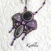 "Украшения ручной работы. Ярмарка Мастеров - ручная работа Кулон ""Purple butterfly"". Handmade."