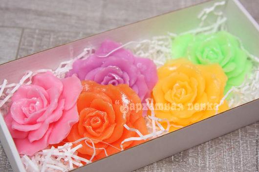 """Мыло ручной работы. Ярмарка Мастеров - ручная работа. Купить Набор мыла """"Розы"""". Handmade. Мыло розы, розовое мыло"""