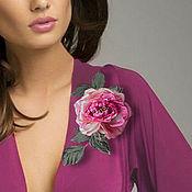 Украшения handmade. Livemaster - original item Rose red Pretty. silk flowers. Rose brooch from fabric. Handmade.