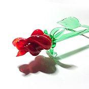Подарки к праздникам handmade. Livemaster - original item Glass tea rose as a gift. Handmade.