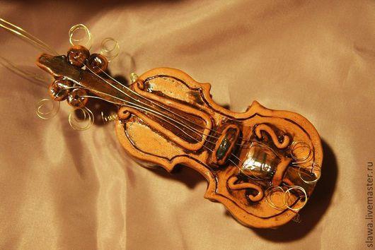 """Колокольчики ручной работы. Ярмарка Мастеров - ручная работа. Купить Колокольчик """"Скрипка"""". Handmade. Колокольчик, Бижутерия"""