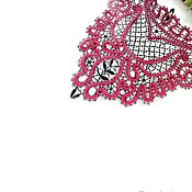Аксессуары ручной работы. Ярмарка Мастеров - ручная работа Колье- чокер кружевной Кармен, вологодское кружево. Handmade.
