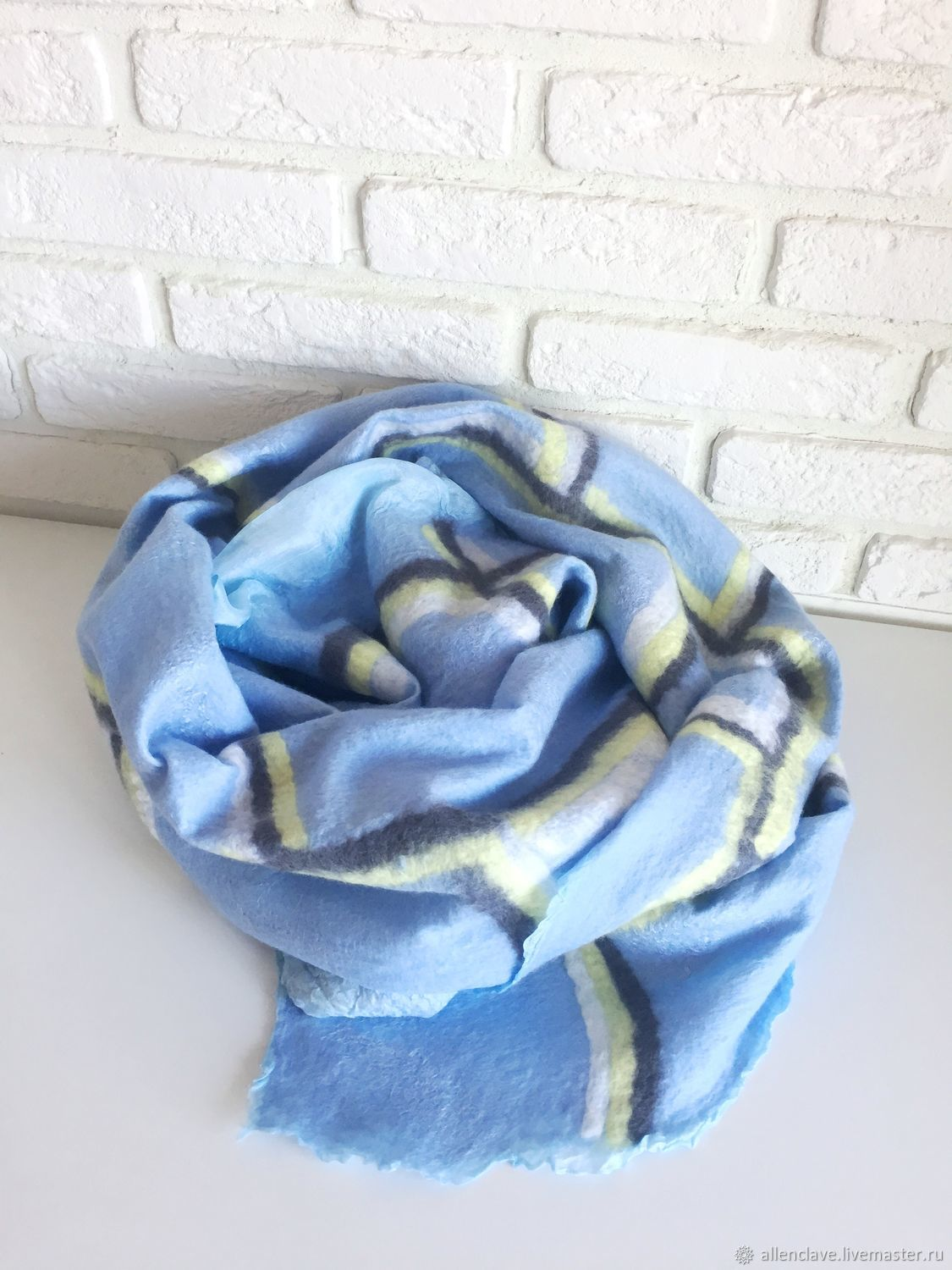 Cage felted scarf, Scarves, Barnaul,  Фото №1