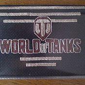 Канцелярские товары ручной работы. Ярмарка Мастеров - ручная работа Обложка на паспорт World of tanks. Handmade.