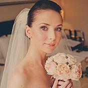 Свадебный салон ручной работы. Ярмарка Мастеров - ручная работа Букет невесты из шелковых роз и пионов. Handmade.