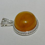 Украшения handmade. Livemaster - original item Amber pendant