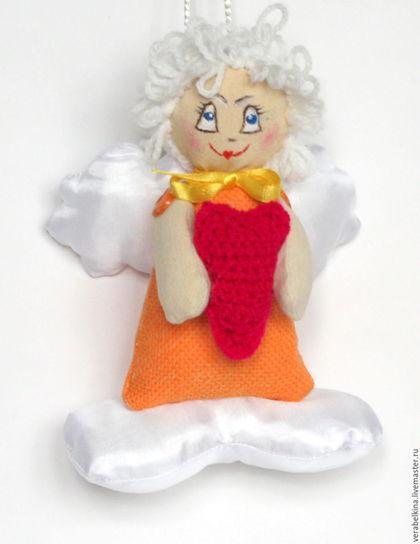 Куклы Тильды ручной работы. Ярмарка Мастеров - ручная работа. Купить Ангел на облачке текстильный. Подвеска новогодняя. Handmade. Комбинированный