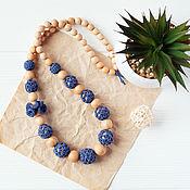 Одежда handmade. Livemaster - original item Slingobusy in a boho-style juniper blue denim. Handmade.