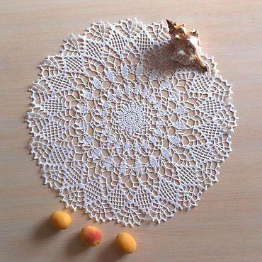 Для дома и интерьера ручной работы. Ярмарка Мастеров - ручная работа Салфетка крючком ажурная Белая метелица. Handmade.