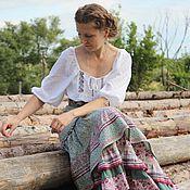 Юбки ручной работы. Ярмарка Мастеров - ручная работа Длинная летняя юбка по старинным мотивам. Handmade.