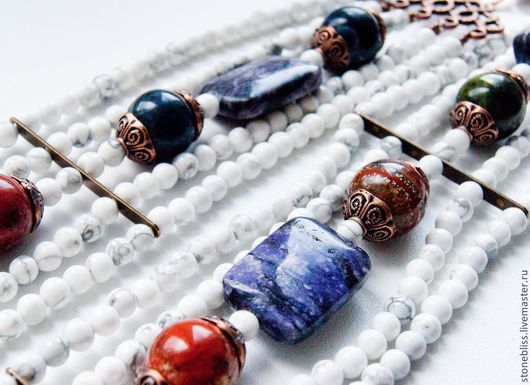 """Пояса, ремни ручной работы. Ярмарка Мастеров - ручная работа. Купить Пояс из камней """"Светлая княгиня"""". Handmade. Орнамент, яшма"""