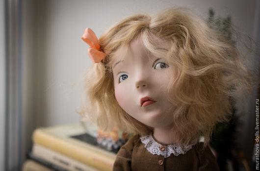 Коллекционные куклы ручной работы. Ярмарка Мастеров - ручная работа. Купить Примерная девочка. Handmade. Коричневый, хлопок