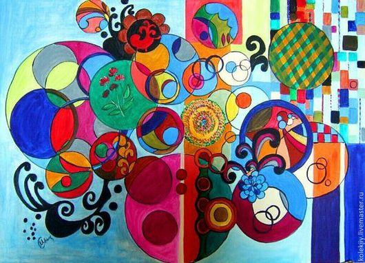 Абстракция ручной работы. Ярмарка Мастеров - ручная работа. Купить По мотивам картин Беатриз Мильяшез. Handmade. Синий, настроение