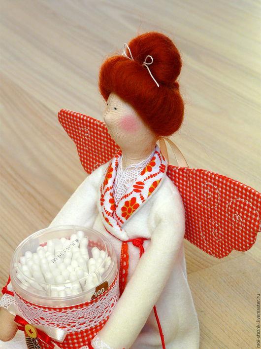 Куклы Тильды ручной работы. Ярмарка Мастеров - ручная работа. Купить Интерьерная кукла ручной работы.. Handmade. Ярко-красный