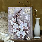 Для дома и интерьера ручной работы. Ярмарка Мастеров - ручная работа Шкатулка-книга Орхидеи. Handmade.