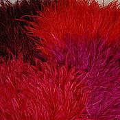 Материалы для творчества handmade. Livemaster - original item Ostrich feather braid 10-15 cm shades of red. Handmade.