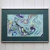 Картины и панно ручной работы. Ярмарка Мастеров - ручная работа живопись на воде 7. Handmade.