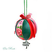 Сувениры и подарки handmade. Livemaster - original item Christmas decorations: Rose genuine leather balloon large collectible. Handmade.