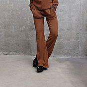 Одежда ручной работы. Ярмарка Мастеров - ручная работа Брюки вязаные женские LATTE MIXX. Handmade.