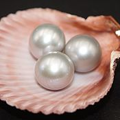 Материалы для творчества handmade. Livemaster - original item Pearls natural semi-drilled gray 11-12 mm class AAA. Handmade.