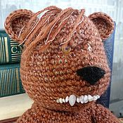 Мягкие игрушки ручной работы. Ярмарка Мастеров - ручная работа Медведь вязанный, сердитый. Handmade.