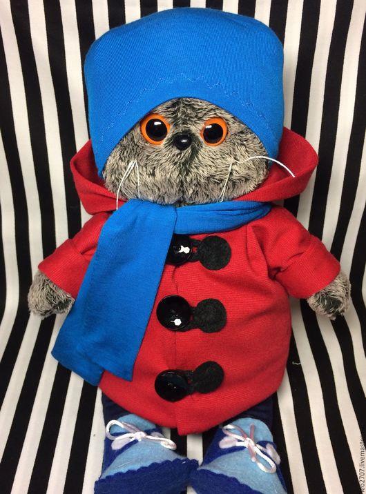 Одежда для кукол ручной работы. Ярмарка Мастеров - ручная работа. Купить Комплект одежды для Басика. Handmade. Комбинированный, шапка