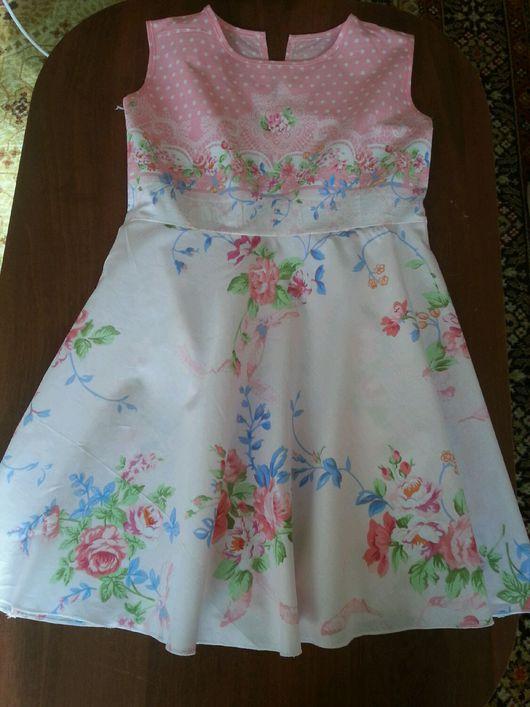 Одежда для девочек, ручной работы. Ярмарка Мастеров - ручная работа. Купить Платье     21. Handmade. Платье нарядное, сарафан для девочки