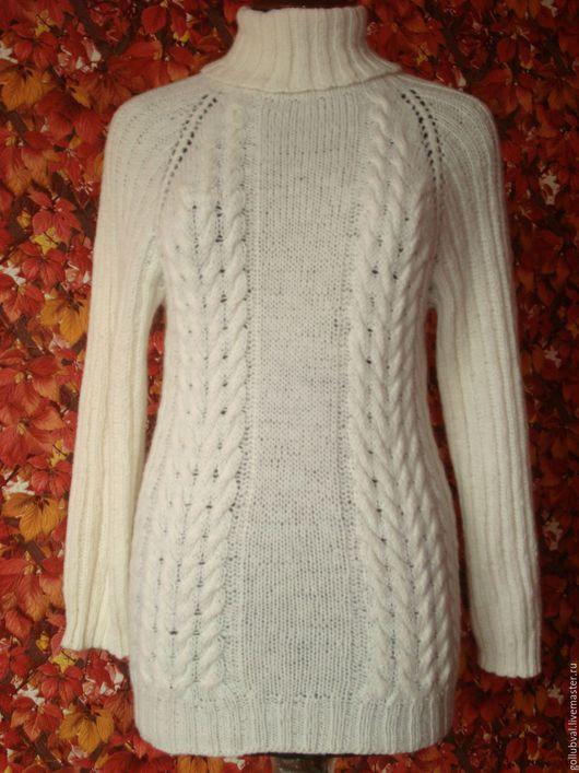 Кофты и свитера ручной работы. Ярмарка Мастеров - ручная работа. Купить свитер белый шерстяной. Handmade. Белый, свитер вязаный