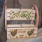 Для дома и интерьера ручной работы. Ярмарка Мастеров - ручная работа Полочка  для специй. Handmade.