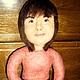 Портретные куклы ручной работы. Ярмарка Мастеров - ручная работа. Купить Портретная кукла. Handmade. Бежевый, подарок женщине, войлок
