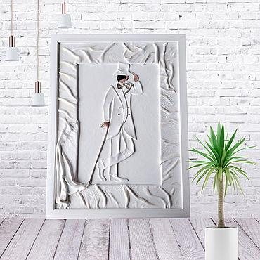 """Картины и панно ручной работы. Ярмарка Мастеров - ручная работа Картина из натуральной кожи """" Кен"""". Handmade."""