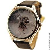 Украшения ручной работы. Ярмарка Мастеров - ручная работа Дизайнерские наручные часы Ежик в густом тумане. Handmade.