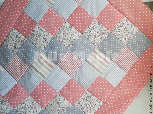 Пледы и одеяла ручной работы. Ярмарка Мастеров - ручная работа. Купить Детское лоскутное покрывало. Handmade. Коралловый, покрывало в спальню
