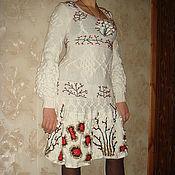 Одежда ручной работы. Ярмарка Мастеров - ручная работа ГОТОВОЕ!!! Платье Рябина на снегу по мотивам KENZO. Handmade.