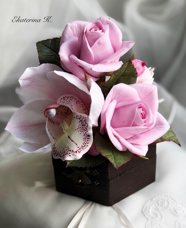 Шкатулка с цветочной композицией, Шкатулки, Кумертау,  Фото №1