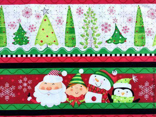 Ткань` из коллекции `Новый год`, производитель Квилтинг Трежерс. Ткань для детской.Ткань для печворка. Оформление интерьера на Новый 2017 год