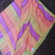 Винтаж handmade. Livemaster - original item Bright scarf,100% silk,vintage Germany. Handmade.