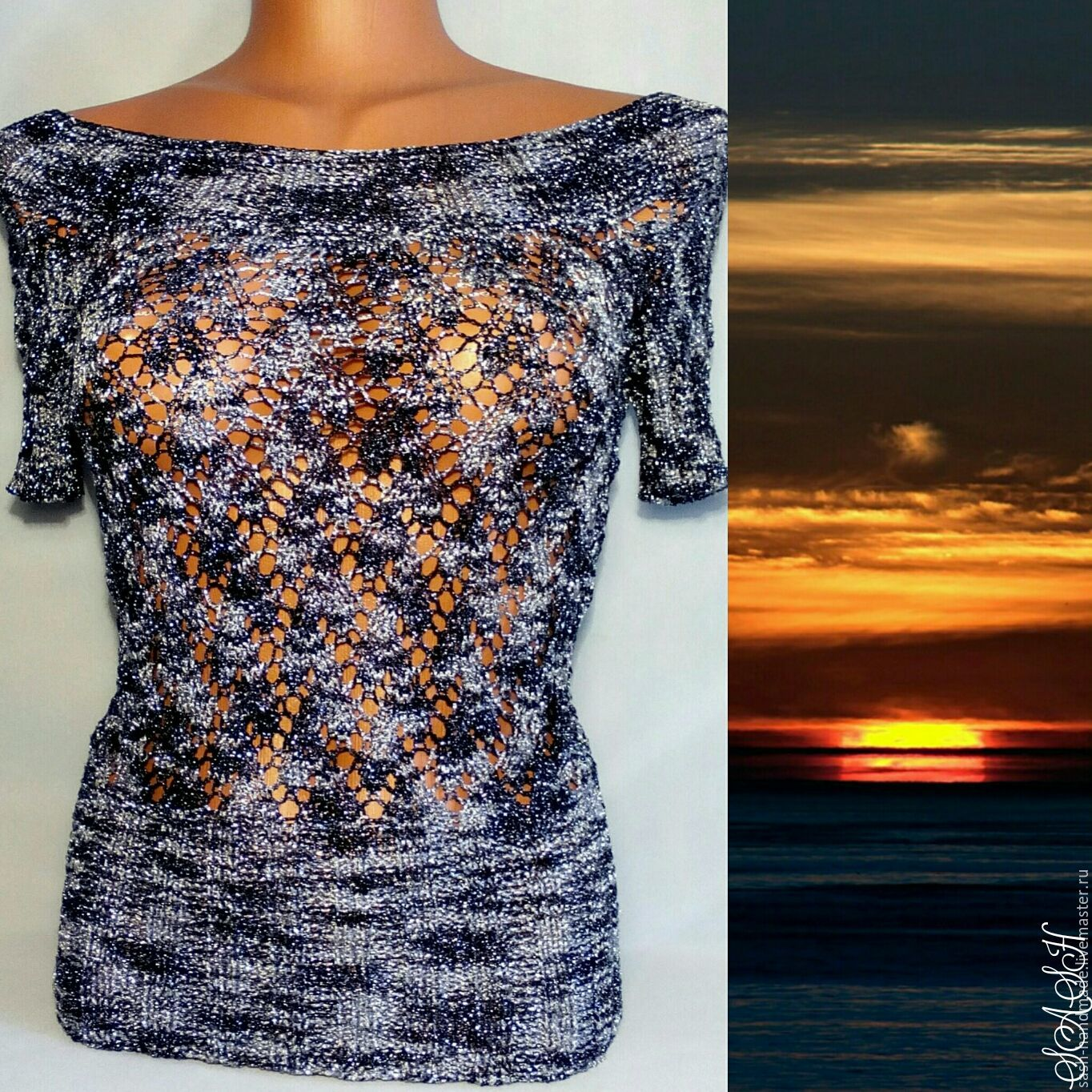Pullover 'Evening sunset', Pullover Sweaters, Ufa,  Фото №1