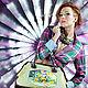 """Женские сумки ручной работы. Ярмарка Мастеров - ручная работа. Купить Летний саквояж """"Подсолнухи. Букет."""". Handmade."""