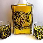 Посуда ручной работы. Ярмарка Мастеров - ручная работа Набор для виски «Ягуар». Handmade.