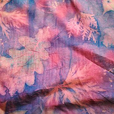 Accessories handmade. Livemaster - original item Silk scarf eco print