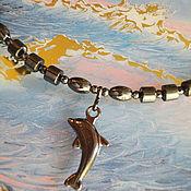 Колье ручной работы. Ярмарка Мастеров - ручная работа Я завидую дельфину. Handmade.