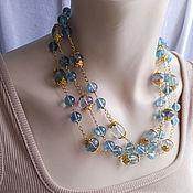 Работы для детей, handmade. Livemaster - original item Beads EMERALD FLUORITE Gilding Natural fluorite. Handmade.
