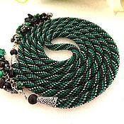 Украшения handmade. Livemaster - original item Lariat harness of beads